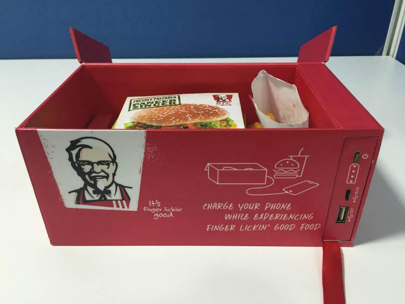 KFC India tries putting a powerbank in a food box