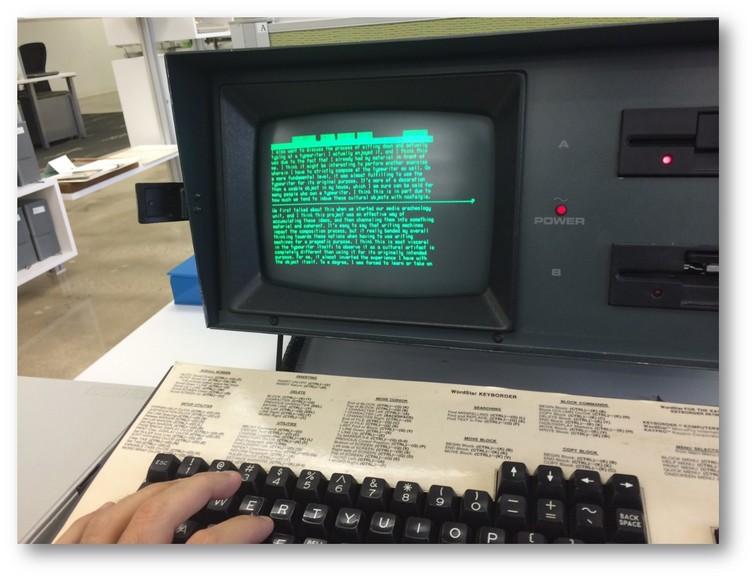 WordStar shown on a Kaypro IV