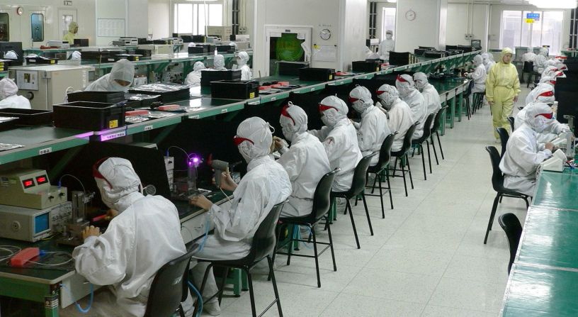 A Foxconn plant in Shenzhen, China. Photo by Steve Jurvetson on Wikipedia, used under a Creative Commons Attribution 2.0 license.