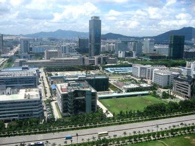 Shenzhen industrial area.