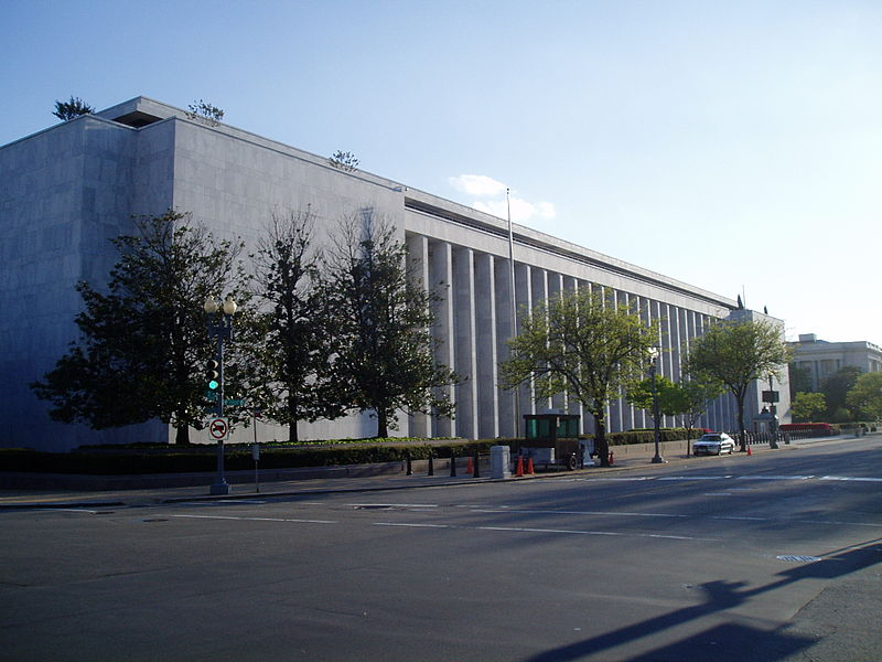 "The James Madison Memorial Building, which houses the US Copyright Office. Photo by Wikipedia user ""UpstateNYer,"" used under a Creative Commons Attribution-Share Alike 3.0 Unported license."