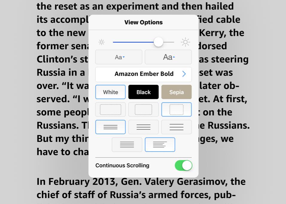Kindle iOS app now allows vertical scrolling, window splitting