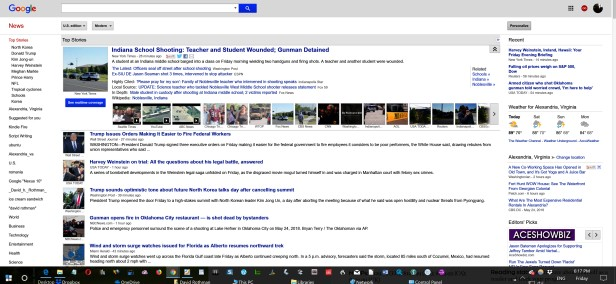 Google news old look kind of