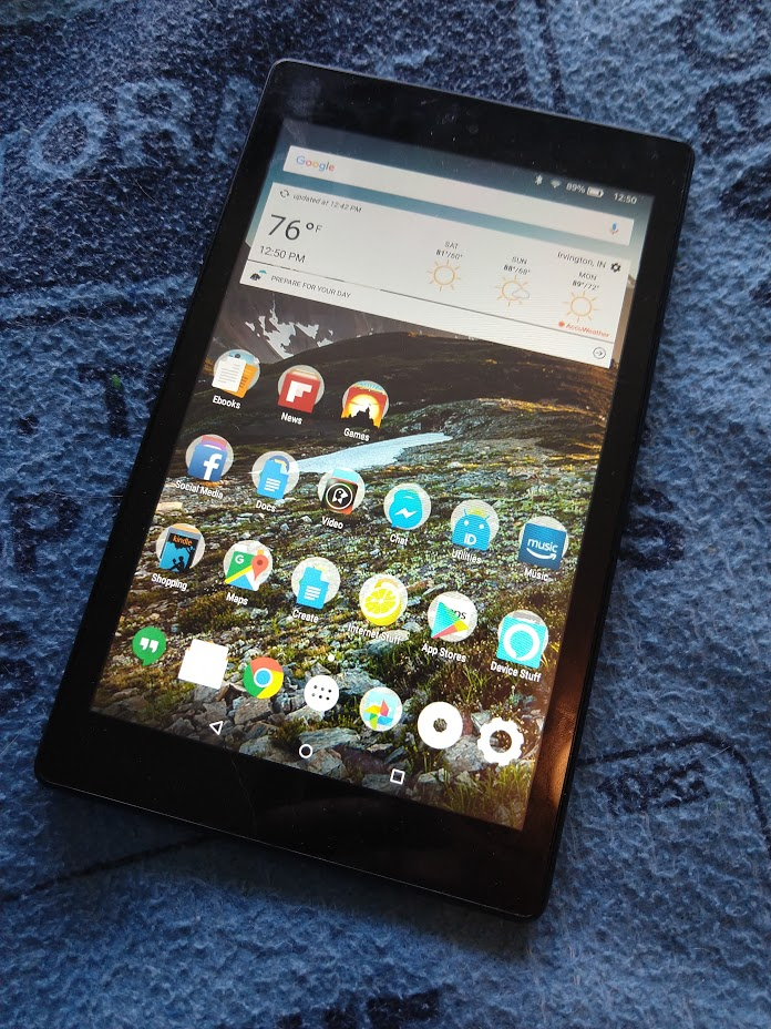 How to install a new launcher on Amazon's Fire tablet