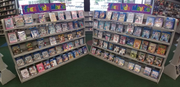 Family Video has a wide variety of free-to-rent children's video titles.