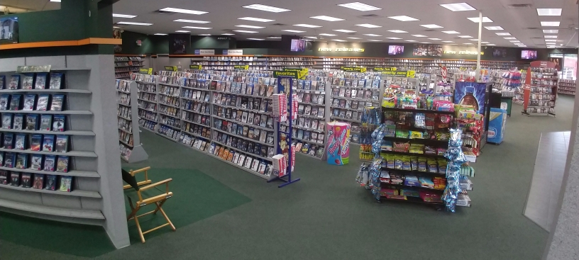 The Family Video store at 10th & Emerson, Indianapolis is spacious and well-organized.