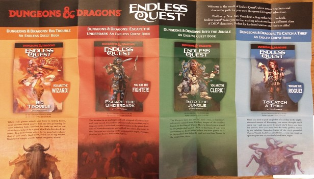 The new Endless Quest series includes four titles by Matt Forbec covering the four basic D&D character classes.