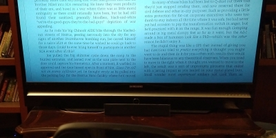 Reading a Kindle ebook on TV via Steam Link