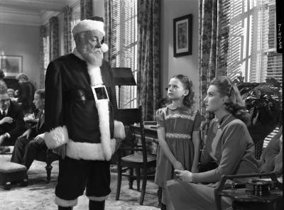Edmund Gwenn, Natalie Wood, and Maureen O'Hara, in Miracle on 34th Street