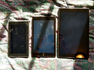 Left to right: my Fire, Fire HD 8, and new Fire HD 10