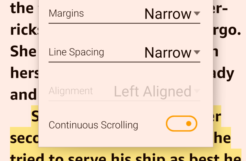 Kindle Android app now permits vertical scrolling—just like