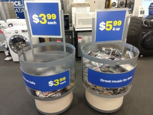 The sole remnant of Best Buy's once-expansive music section.