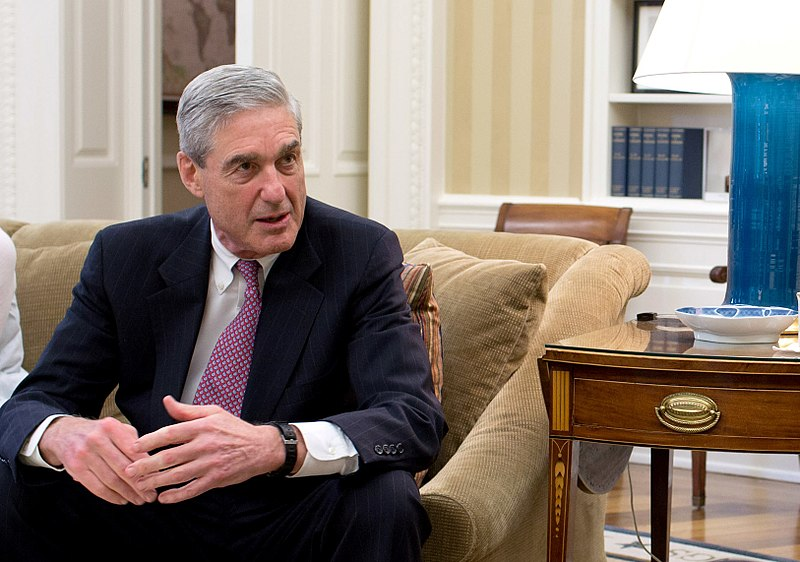 During his tenure as FBI Director, Robert Mueller visits President Obama's Oval Office in 2012.